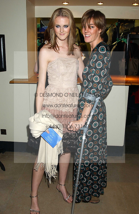 Left to right, sisters CHARLOTTE WHEELER and SARAH WHEELER daughters of Sir Stuart Wheeler at a dinner attended by the Conservative leader Michael Howard and David Davis and David Cameron held at the Banqueting Hall, Whitehall, London on 29th November 2005.<br /><br />NON EXCLUSIVE - WORLD RIGHTS