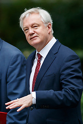 © Licensed to London News Pictures. 11/07/2017. London, UK. Secretary of State for Exiting the European Union DAVID DAVIS attends a cabinet meeting in Downing Street, London on Tuesday, 11 July 2017. Photo credit: Tolga Akmen/LNP