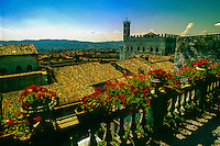 Overview of Gubbio, Umbria, Italy