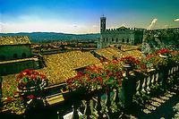Overview of Gubbio, Umbria, Italy