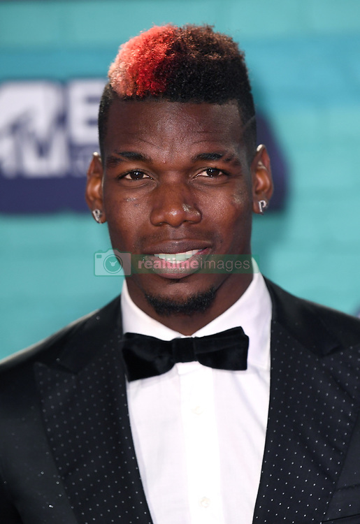 Paul Pogba arriving at the MTV Europe Music Awards 2017 held at The SSE Arena, London. Photo credit should read: Doug Peters/EMPICS Entertainment