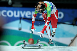 OLYMPISCHE SPIELE: Winterspiele Vancouver 2010, Skeleton Frauen, Whistler, 19.02.2010<br /> Mellisa HOLLINGSWORTH (CAN)<br /> @ pixathlon