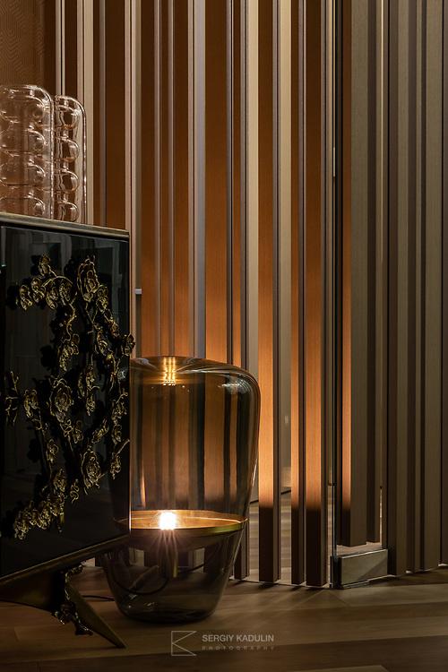 Интерьерная фотосъемка по заказу дизайн-студии. Фрагмент интерьера частной квартиры в Будапеште.