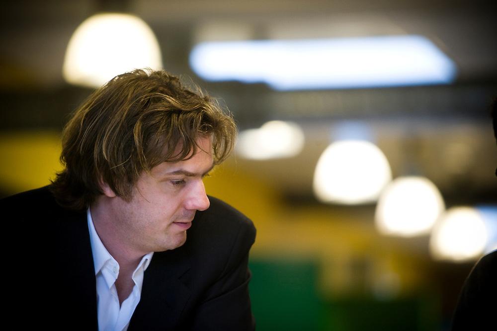 Nederland. Rotterdam, 17 december 2007.<br /> Rutger Wolfson, inetrim-directeur filmfestival rotterdam.<br /> Foto Martijn Beekman