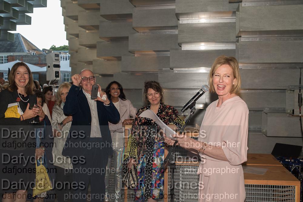 ROSE DEMPSEY; RICHARD WENTWORTH; ANYA GALLACHIO; JULIA PEYTON-JONES Party  to celebrate Julia Peyton-Jones's  25 years at the Serpentine. London. 20 June 2016
