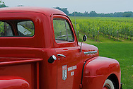 Bedell Cellars winery, Cutchogue New York, North Fork, Long Island, Red Truck