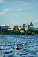 Kayaking on Monona Bay