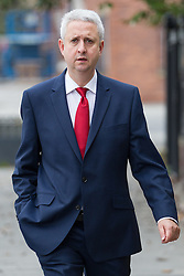 © Licensed to London News Pictures . 20/09/2014 . Manchester , UK . IVAN LEWS , MP for Bury South . Arrivals at the funeral of Heywood and Middleton MP Jim Dobbin at Salford Cathedral today (Saturday 20th September 2014) . Photo credit : Joel Goodman/LNP