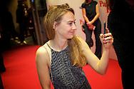 HILVERSUM - In de nieuwe JT Bioscoop is de eerste film 'Pak van mijn Hart' in premiere gegaan. Met hier op de foto Janey van Ierland. FOTO LEVIN DEN BOER - PERSFOTO.NU