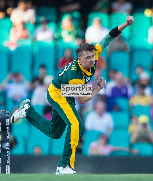 ICC Cricket World Cup 2015 Tournament Match, South Africa v West Indies, Sydney Cricket Ground; 27th February 2015<br /> South Africa&rsquo;s Dale Steyn