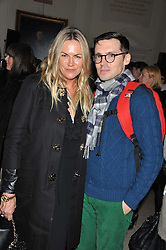 EMMA HILL and ERDEM MORALIOGLU at a private view of Story Teller by photographer Tim Walker supported by Mulberry held at Somerset House, The Strand, London on 17th October 2012.