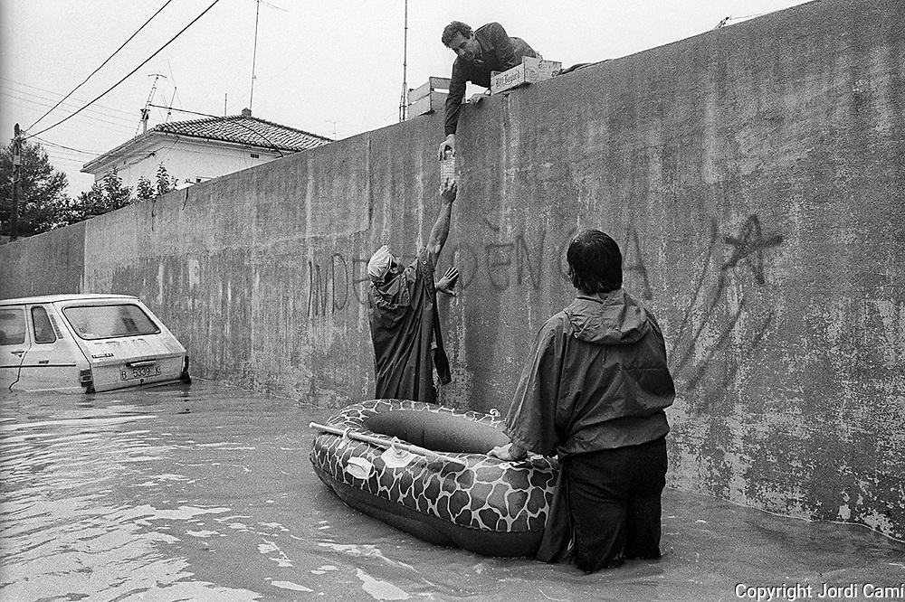 Inundacions a Alzira, Valéncia.1982.