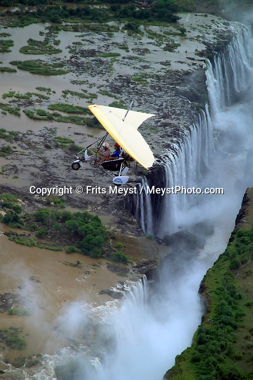 LIVINGSTONE, VICTORIA FALLS, ZAMBIA, DECEMBER 2004. A microlight flight is the best way to see of the falls. Victoria falls on the border between Zambia and Zimbabwe is the outdoor adventure capital of Africa. Photo by Frits Meyst/Adventure4ever.com
