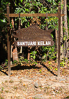Fish Sanctuary Sign in Taman Negara National Park, Malaysia. The sanctuary breeds and protects the Malayan Red Mahseer (Tor tambroides)
