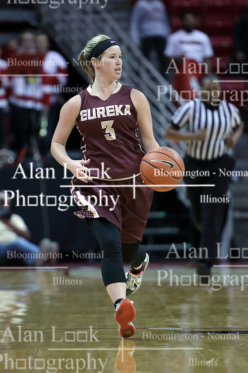 01 November 2017:  Kennedy Dura during a Exhibition College Women's Basketball game between Illinois State University Redbirds the Red Devils of Eureka College at Redbird Arena in Normal Illinois.