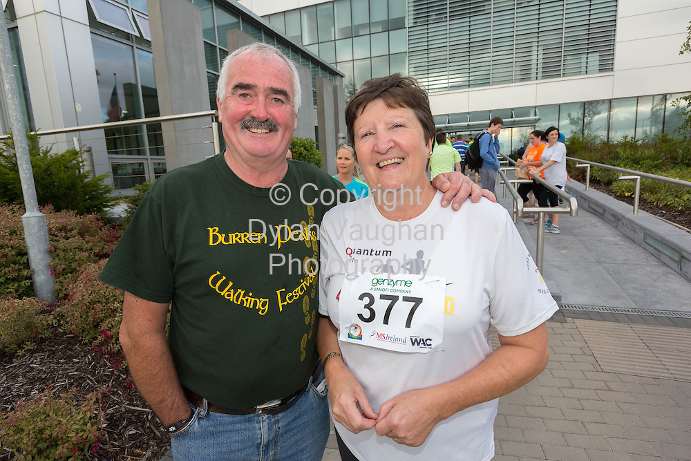 No Repro Fee<br /> <br /> <br /> 301/8/2013<br /> David Power and Margaret Stenson pictured at the third annual Genzyme for MS Five Mile Road Race in Waterford on Friday (Aug 30). All proceeds from the race are going to the Waterford branch of the Multiple Sclerosis Society of Ireland. <br /> <br /> Picture Dylan Vaughan.