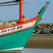 Prow of Thai fishing boat in Khao Sam Roi Yot National Park, Thailand