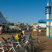 Santa Monica Pier amusement park, CA.USA.