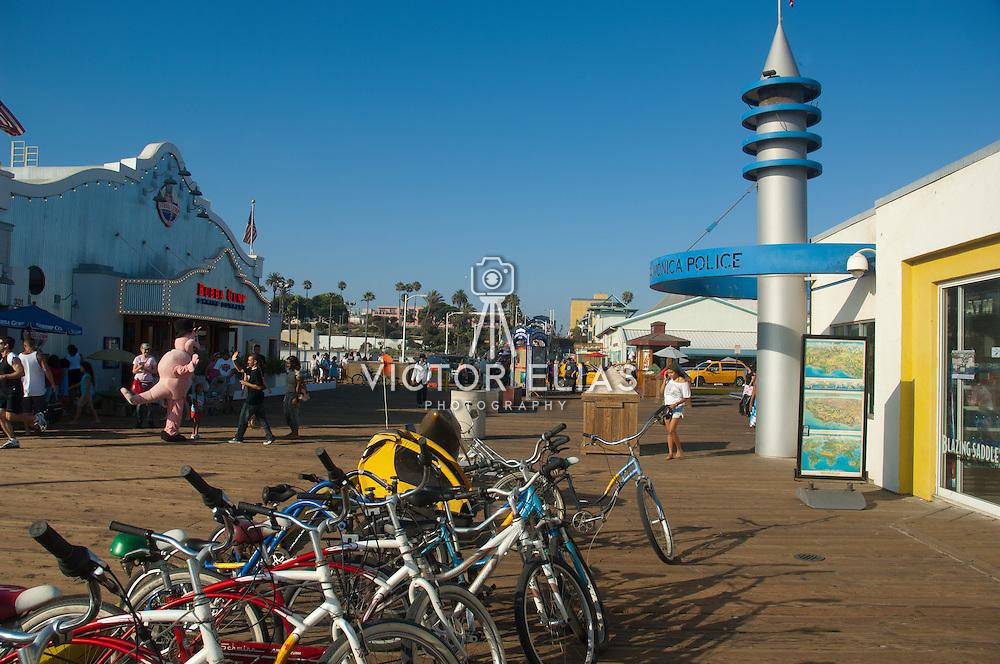 Santa Monica Pier amusement park, CA.USA.