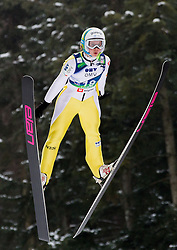 Ursa Bogataj of Slovenia during Normal Hill Individual Competition at FIS World Cup Ski jumping Ladies Ljubno 2012, on February 11, 2012 in Ljubno ob Savinji, Slovenia. (Photo By Vid Ponikvar / Sportida.com)