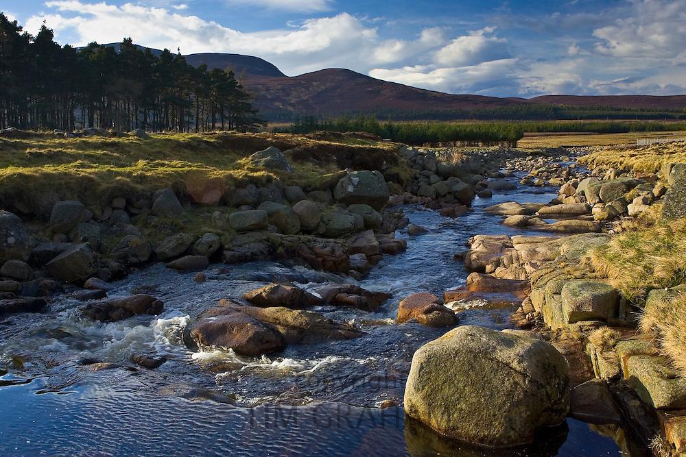 Muick River in Glenmuick, Aberdeenshire, Scotland