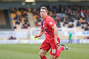 York City defender Dave Winfield  during the Sky Bet League 2 match between Cambridge United and York City at the R Costings Abbey Stadium, Cambridge, England on 20 February 2016. Photo by Simon Davies.