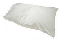 white pillow in soft lined pillowcase