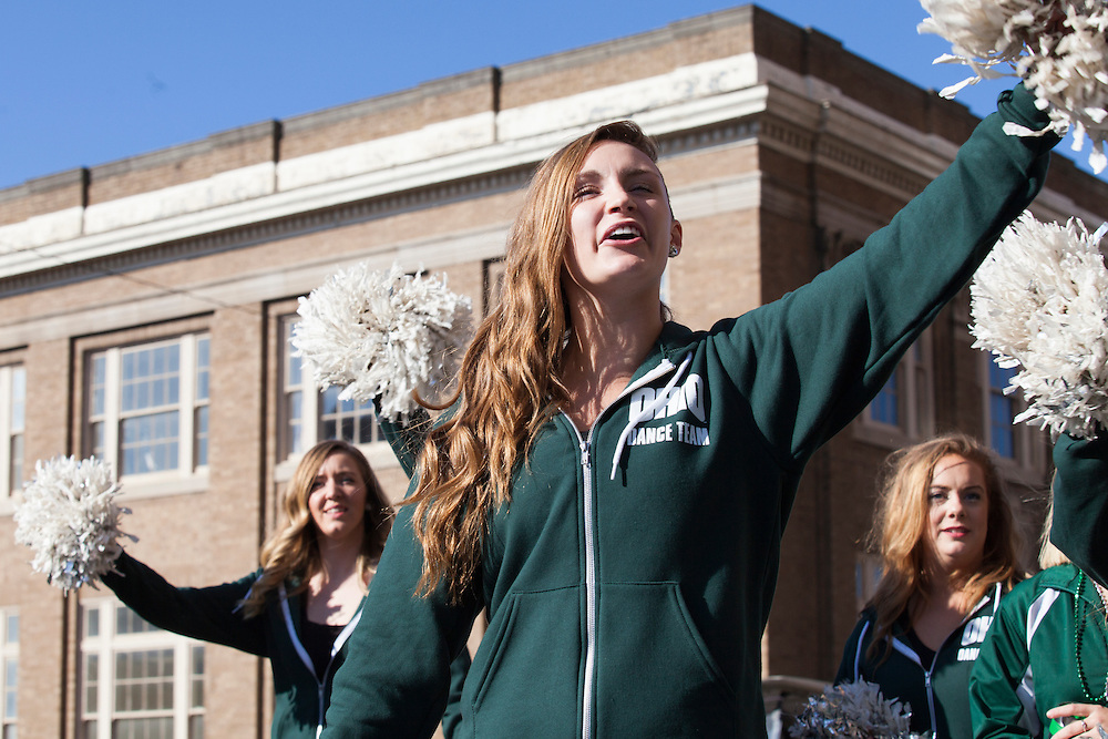 Ohio University Dance Team in the 2015 Homecoming parade. Photo by Kaitlin Owens