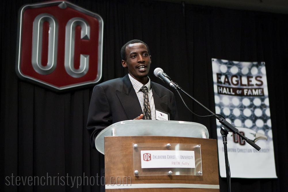 January 20, 2012: The Oklahoma Christian University Eagles host the athletic Hall of Fame induction banquet.