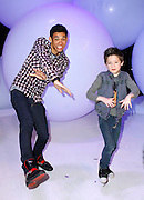 Roshon Fegan and Davis Cleveland attend the Disney Kids and Family Upfront 2011-12 at Gotham Hall in New York City on March 16, 2011.