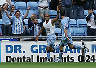Coventry - Saturday August 9th, 2008: Leon McKenzie of Coventry City celebrates scoring his teams second goal against Norwich City during the Coca Cola Championship match at The Ricoh Arena, Coventry. (Pic by Michael Sedgwick/Focus Images)