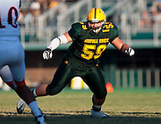 Norfolk State senior Joey Christine in action against Virginia State during their 51 - 28 win in a 2010 MEAC Football game held at Dick Price Stadium on the campus of Norfolk State University in Norfolk, Virginia.   (Photo by Mark W. Sutton)