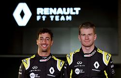 Drivers Niko Hulkenberg (right) and Daniel Ricciardo during the Renault F1 Team 2019 season launch at Whiteways Technical Centre, Oxford.