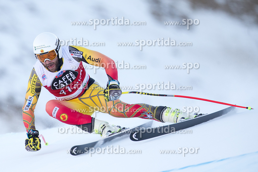 28.12.2015, Deborah Compagnoni Rennstrecke, Santa Caterina, ITA, FIS Ski Weltcup, Santa Caterina, Abfahrt, Herren, 2. Training, im Bild Jeffrey Frisch (CAN) // Jeffrey Frisch of Canada in action during the 2nd practice run of men's Downhill of the Santa Caterina FIS Ski Alpine World Cup at the Deborah Compagnoni Course in Santa Caterina, Italy on 2015/12/28. EXPA Pictures © 2015, PhotoCredit: EXPA/ Johann Groder
