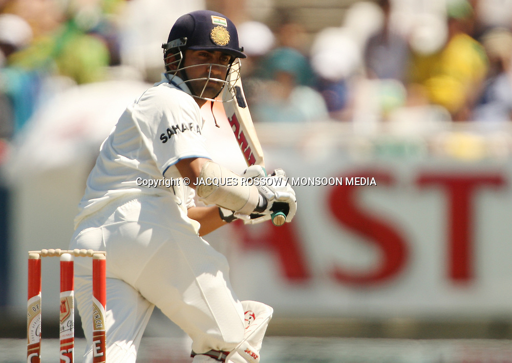 Gautam Gambir watches a ball played fine down the leg-side during Day 2 of the third and final Test between South Africa and India played at Sahara Park Newlands in Cape Town, South Africa, on 2 January 2011. Photo by Jacques Rossouw / MONSOON MEDIA
