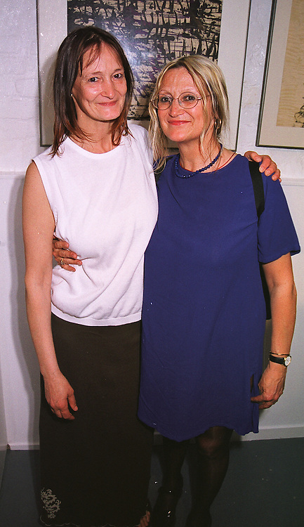 Left to right, sisters JACKIE DYKINS and JULIA BAIRD half sisters of the late John Lennon, at an exhibition in London on 2nd June 1999.MST 59