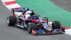 Toro Rosso's Alexander Albon during day two of pre-season testing at the Circuit de Barcelona-Catalunya.