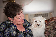 Chihuahua mix Annie with owner Judi Steen - Pet photography by Michael Kloth.
