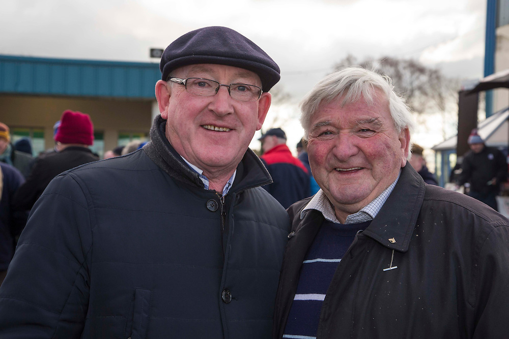 Ladbrokes Ireland Boyne Hurdle at Navan Race Course, 14th February 2016<br /> Pictured at the Navan Races, L-R, Venety Blake (Curraha-Ashbourne) & Jim Loughman (Castledermot / Kildare)<br /> Photo: David Mullen / www.quirke.ie ©John Quirke Photography, Unit 17, Blackcastle Shopping Cte. Navan. Co. Meath. 046-9079044 / 087-2579454.