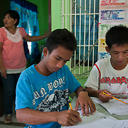 Joseph is 17 and works like his father did on the sea as a fisherman. One day a week Joseph goes to Alternative Learning schooling provided by Quidan-Kaisahan.  Quidan-Kaisahan is a charity working in Negros Occidental in the Philippines. Their aim is to keep children out of work to secure them education.