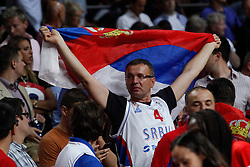 12.09.2014, City Arena, Madrid, ESP, FIBA WM, Frankreich vs Serbien, Halbfinale, im Bild Serbia´s supporter // during FIBA Basketball World Cup Spain 2014 semifinal match between France and Serbia at the City Arena in Madrid, Spain on 2014/09/12. EXPA Pictures © 2014, PhotoCredit: EXPA/ Alterphotos/ Victor Blanco<br /> <br /> *****ATTENTION - OUT of ESP, SUI*****