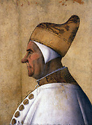 Gentile  Bellini, Portrait of Doge Giovanni Mocenigo. Tempera on panel, 63 x 46 cm Museo Correr,  c. 1478