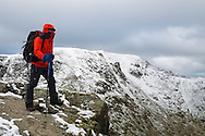 """Atop one of the early """"platforms"""" on Striding Edge"""
