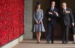 The Duke and Duchess of Cambridge at the ANZAC Day March and Commemorative Service at the Australian War Memorial in Canberra, Australia, Friday, 25th April 2014. Picture by  i-Images. UK OUT for 28 days from date of creation.