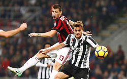 28.10.2017, Stadio Giuseppe Meazza, Mailand, ITA, Serie A, AC Milan vs Juventus Turin, 11. Runde, im Bild Alessio Romagnoli Rugani // Alessio Romagnoli Rugani during the Italian Serie A 11th round match between AC Milan and Juventus Turin at the Stadio Giuseppe Meazza in Mailand, Italy on 2017/10/28. EXPA Pictures © 2017, PhotoCredit: EXPA/ laPresse/ Spada<br />