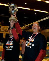 25-04-2009 VOLLEYBAL: PLAYOFF FINALE DOCSTAP ORION - ORTEC NESSELANDE: DOETINCHEM<br /> Nesselande verslaat Orion met 3-1 en is Nederlands kampioen / Ron Zwerver en Arnold van Ree<br /> ©2009-WWW.FOTOHOOGENDOORN.NL
