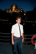 EDWARD BENNET, The opening night party for the second year of The Bridge Project,   Silverfleet on the River Thames. Savoy Pier. London. 23 June 2010. -DO NOT ARCHIVE-© Copyright Photograph by Dafydd Jones. 248 Clapham Rd. London SW9 0PZ. Tel 0207 820 0771. www.dafjones.com.