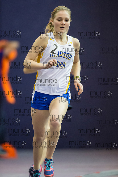 Chloe Walker of Windsor Legion competes at the STL-LW All Comers Meet # 2 in London, Ontario, Saturday, January 24, 2015.<br /> Mundo Sport Images/ Geoff Robins