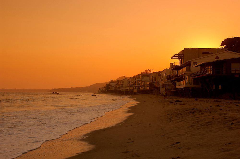 Beach Houses, Malibu, Los Angeles, California, United States of America