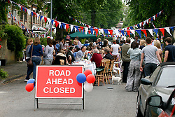 Cambridge, UK  29/04/2011. The Royal Wedding of HRH Prince William to Kate Middleton. Street Party on Belvoir Road Cambridge city centre. The party was not official as planning had been refused. Photo credit should read Jason Patel/LNP. Please see special instructions. © under license to London News Pictures